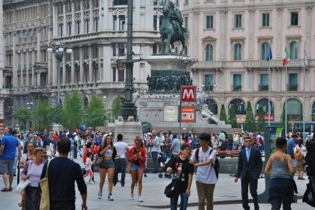 Statua di Garibaldi a Milano