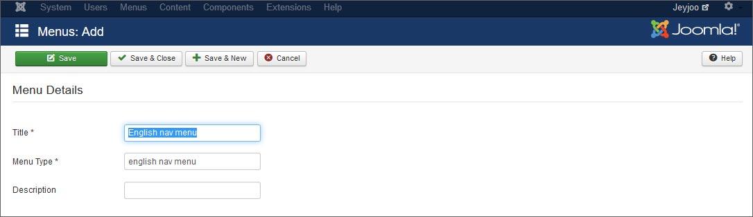 Come creare un menu per la lingua di default su Joomla