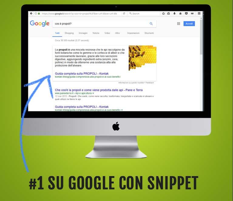 #1 posizione google e featured snippet