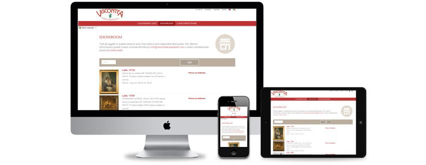 Design di un sito web di casa d'aste tradizionale e online