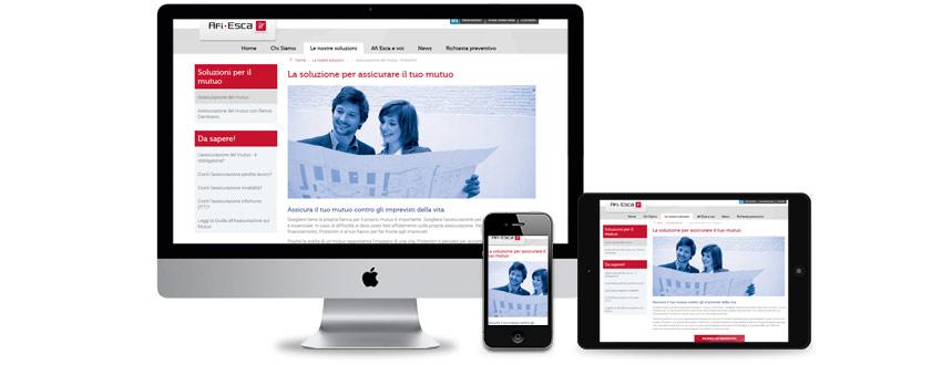 Design di un sito web per una compagnia multinazionale di assicurazioni