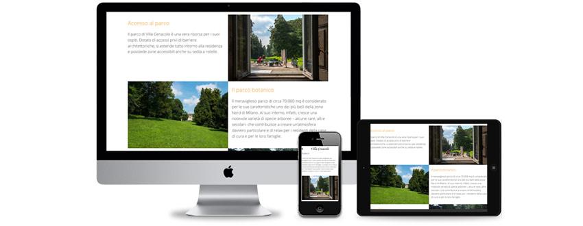 web design per una residenza per anziani