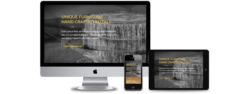 Sito web per prodotti di lusso
